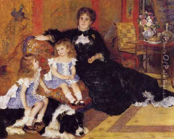 Madame Georges Charpentier and her Children, Georgette and Paul Oil Painting - Pierre Auguste Renoir
