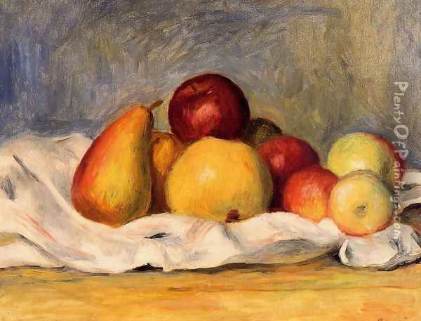 Pears And Apples2 Oil Painting - Pierre Auguste Renoir
