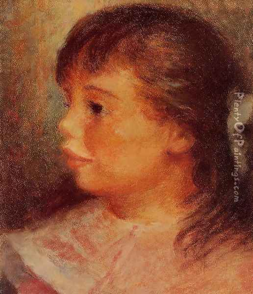 Portrait Of A Girl Oil Painting - Pierre Auguste Renoir