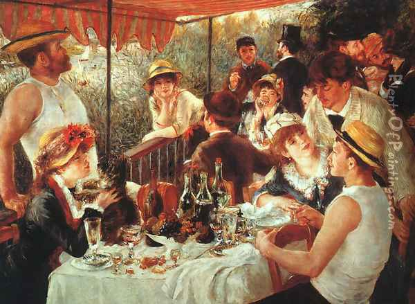 The Boating Party Lunch Oil Painting - Pierre Auguste Renoir