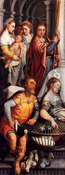 Left wing of a Triptych with the Adoration of the Magi (reverse side) Oil Painting - Pieter Aertsen