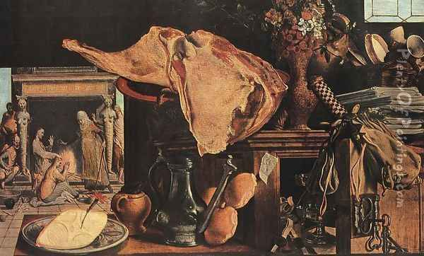 Still-life 1552 Oil Painting - Pieter Aertsen