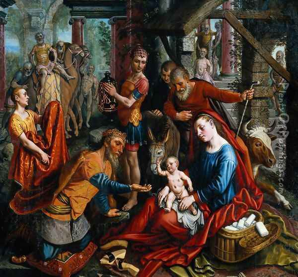 The Adoration of the Magi Oil Painting - Pieter Aertsen