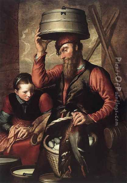 Vendor Of Fowl 1560 Oil Painting - Pieter Aertsen