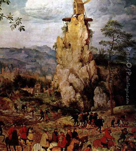 Christ Carrying the Cross (detail 3) Oil Painting - Pieter the Elder Bruegel