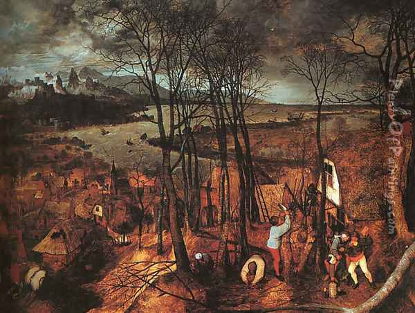 Gloomy Day 1565 Oil Painting - Pieter the Elder Bruegel