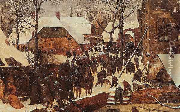 The Adoration of the Kings in the Snow 1567 Oil Painting - Pieter the Elder Bruegel