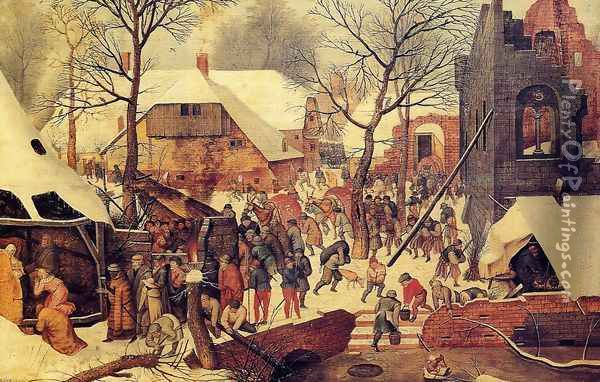 The Adoration of the Magi in the Snow Oil Painting - Pieter the Elder Bruegel