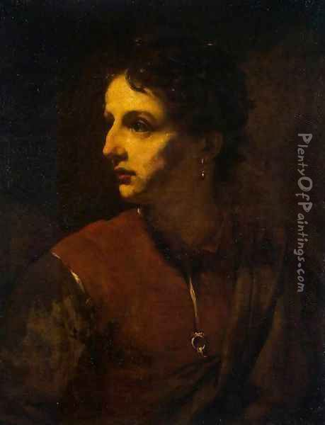 Portrait of a Young Man with an Earring Oil Painting - Pietro Novelli