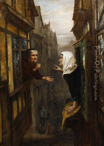 An Argument From Opposite Premises Oil Painting - Ralph Hedley