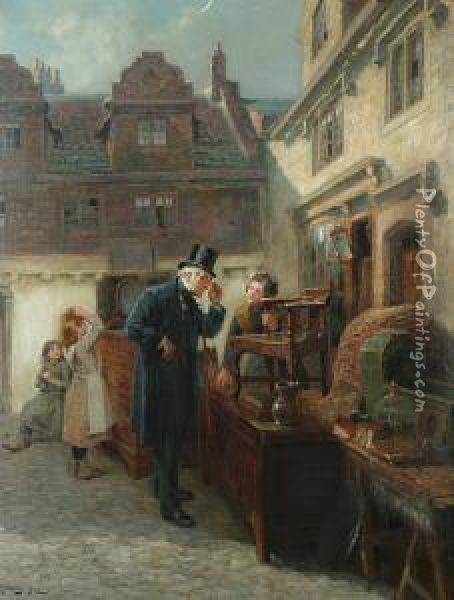 Real Antique Oil Painting - Ralph Hedley
