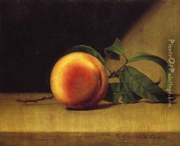 Still Life with Peach Oil Painting - Raphaelle Peale