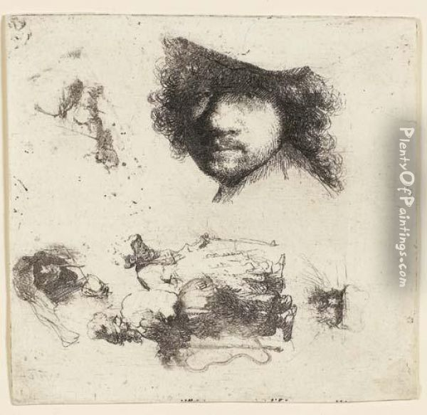 Sheet Of Studies: Head Of The 