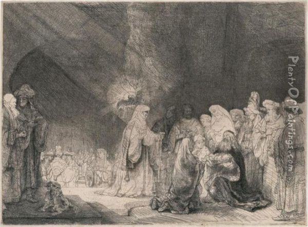 The Presentation In The Temple Oil Painting - Rembrandt Van Rijn