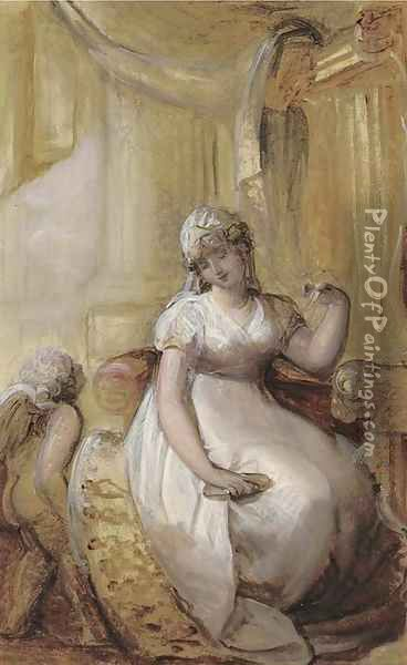 A lady at her toilet Oil Painting - Richard Cosway