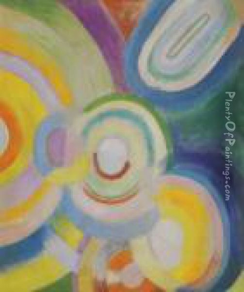 Disques Colores - Recto Oil Painting - Robert Delaunay