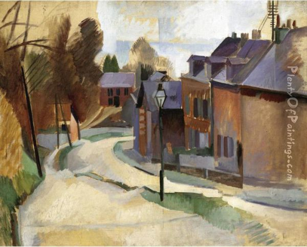 Route De Laon Oil Painting - Robert Delaunay
