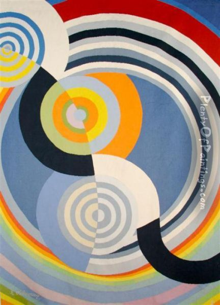Rythme Oil Painting - Robert Delaunay