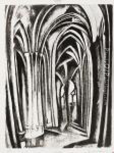 Saint Severin (loyer-perussaux 2) Oil Painting - Robert Delaunay
