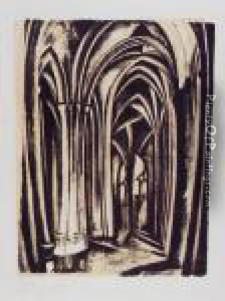 Saint Severin I (loyer/perussaux 2) Oil Painting - Robert Delaunay