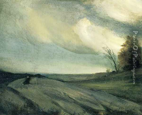 The March Wind Oil Painting - Robert Henri