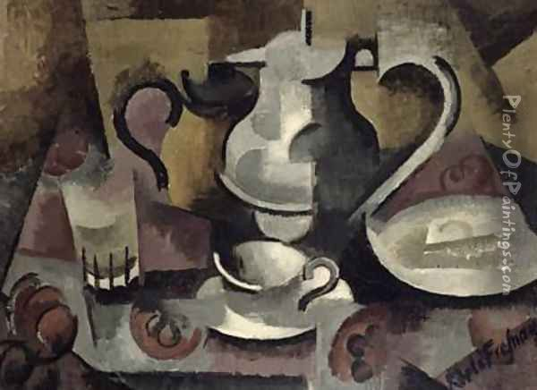 Still Life with Three Handles Oil Painting - Roger de La Fresnaye