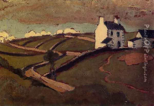 White House at Audierne Oil Painting - Roger de La Fresnaye