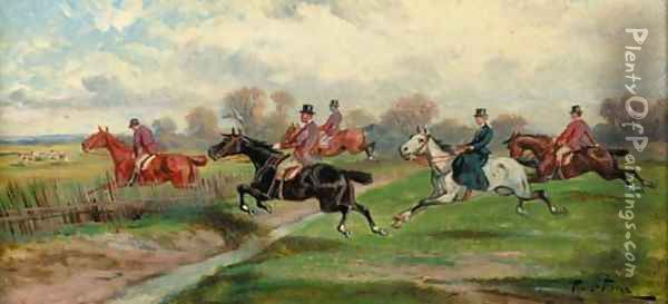 Over the fence 2 Oil Painting - Rudolf Stone