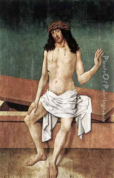 Christ with the Crown of Thorns Oil Painting - Rueland the Elder Frueauf