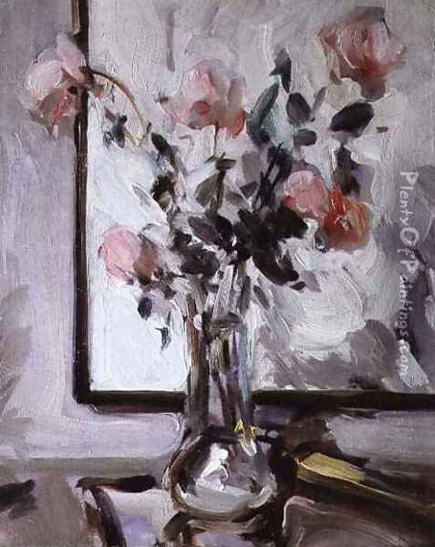 Still Life with Roses Oil Painting - Samuel John Peploe