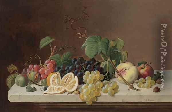 Still Life with Fruit 2 Oil Painting - Severin Roesen