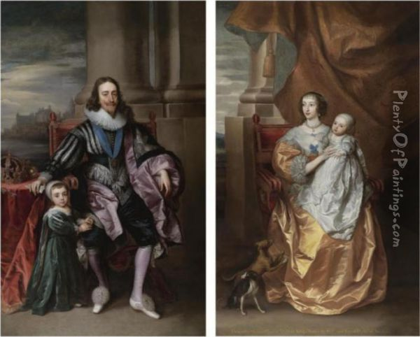 Portrait Of King Charles I, With