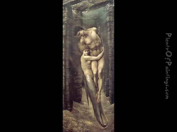 The Depths of the Sea 1887 Oil Painting - Sir Edward Coley Burne-Jones