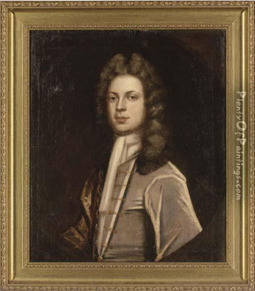 Portrait Of A Gentleman Oil Painting - Sir Godfrey Kneller