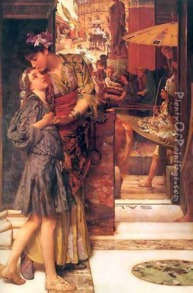 The Parting Kiss Oil Painting - Sir Lawrence Alma-Tadema