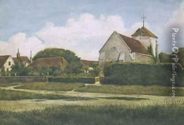 The Village Church, Rottingdean Oil Painting - Sir Philip Burne-Jones
