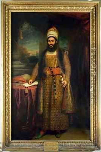 Portrait of Mirza Abul Hassan, Persian Ambassador (1785-1880) Sent by the King of Persia to England Oil Painting - Sir William Beechey