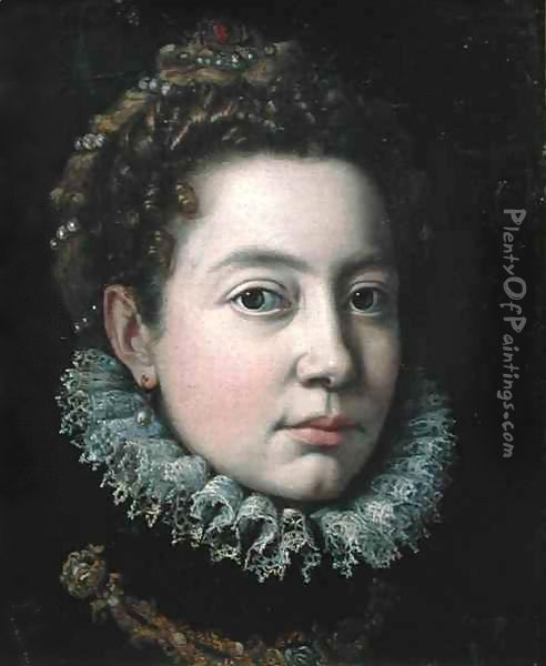 Portrait of a Woman, previously presumed to be Elisabeth of France (1545-68) Oil Painting - Sofonisba Anguissola