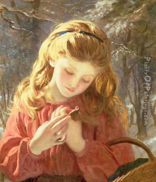 A New Friend Oil Painting - Sophie Gengembre Anderson