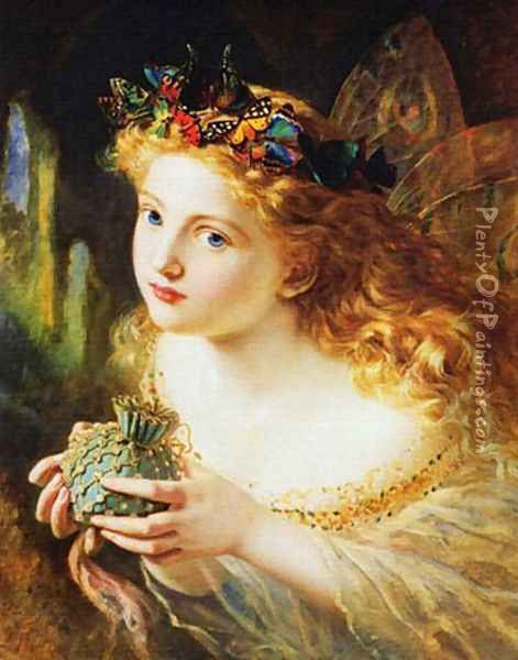 Take the Fair Face of Woman Oil Painting - Sophie Gengembre Anderson