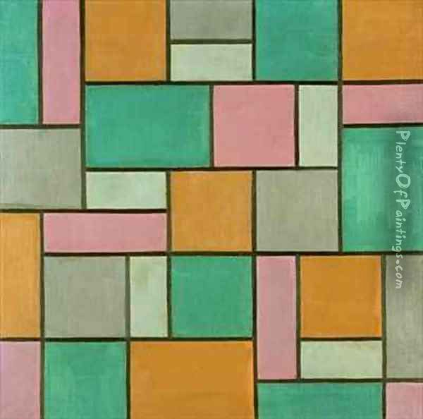 Composition 17 Oil Painting - Theo van Doesburg