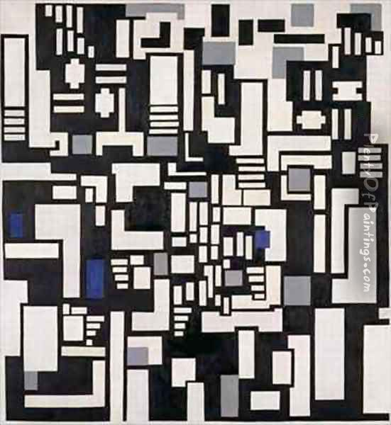 Composition IX Oil Painting - Theo van Doesburg