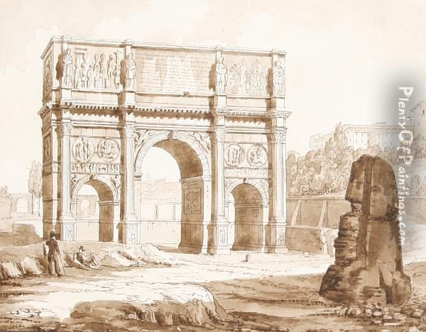 The Arch Of Constantine Oil Painting - Thomas Allom