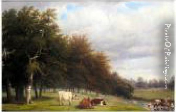 Stoneleigh Park Oil Painting - Thomas Baker Of Leamington