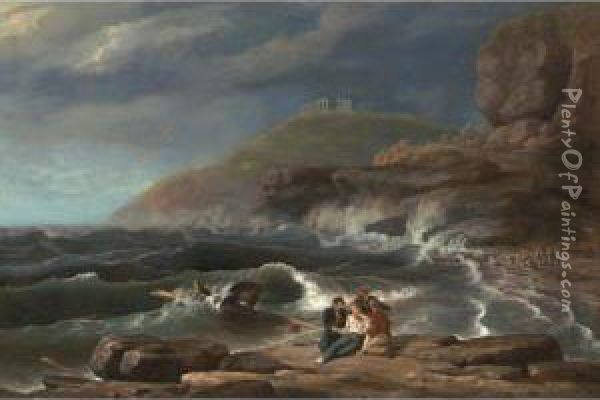 Falconer's Shipwreck Oil Painting - Thomas Birch