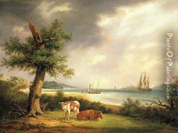 The Narrows, New York Bay Oil Painting - Thomas Birch