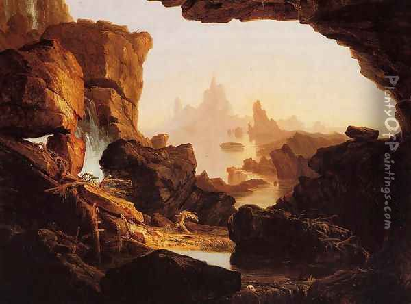The Subsiding of the Waters of the Deluge Oil Painting - Thomas Cole