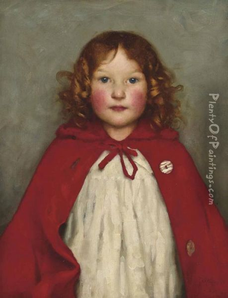 Ruby Oil Painting - Thomas Cooper Gotch