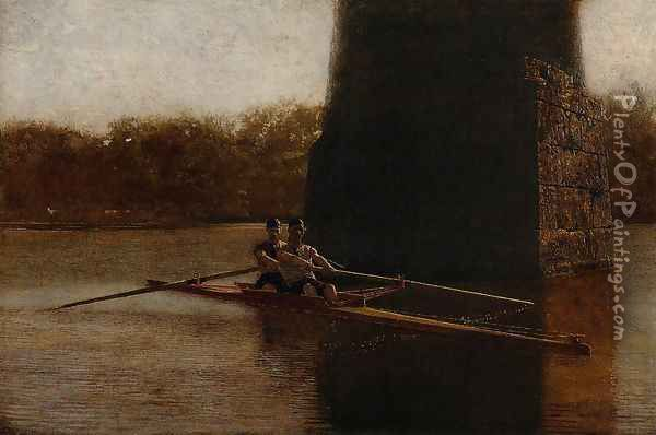 The Pair-Oared Scull Oil Painting - Thomas Cowperthwait Eakins