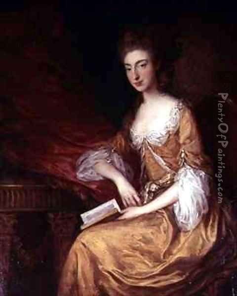 Portrait of a Lady with a Book Oil Painting - Thomas Gainsborough